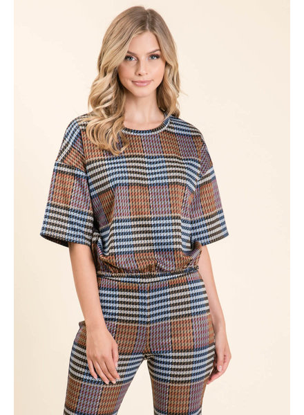 Lumiere Fashion 'Banded Together' Jacquard Top
