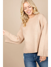 Loved + Adored 'Princess Taupe' Sweater
