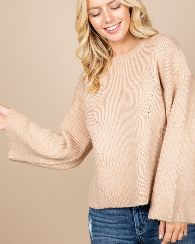 Loved + Adored Loved + Adored 'Princess Taupe' Sweater (Small) **FINAL SALE**