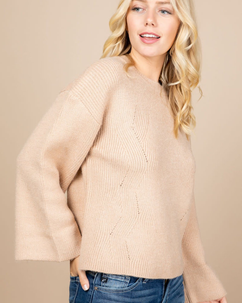 Loved + Adored Loved + Adored 'Princess Taupe' Sweater
