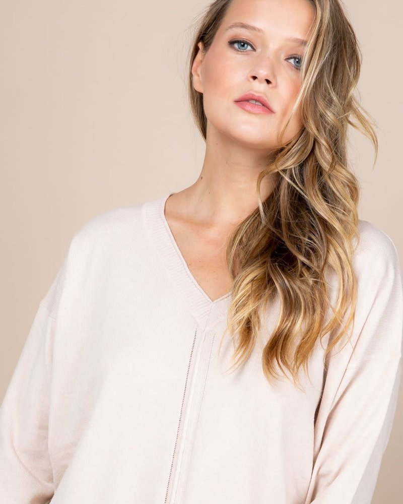 Loved + Adored Paper Crane 'In the Nude' Sweater