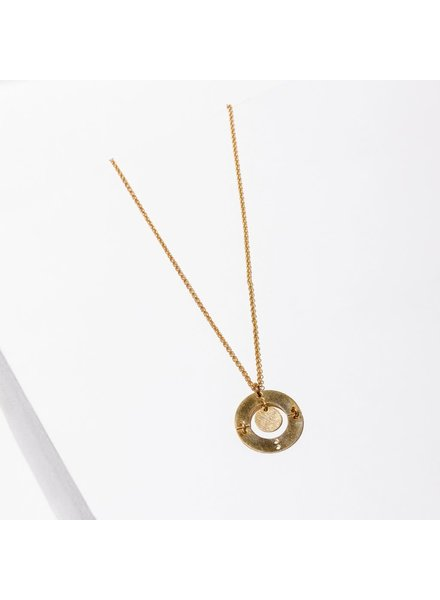 Larissa Loden Brass 'Puer' Necklace