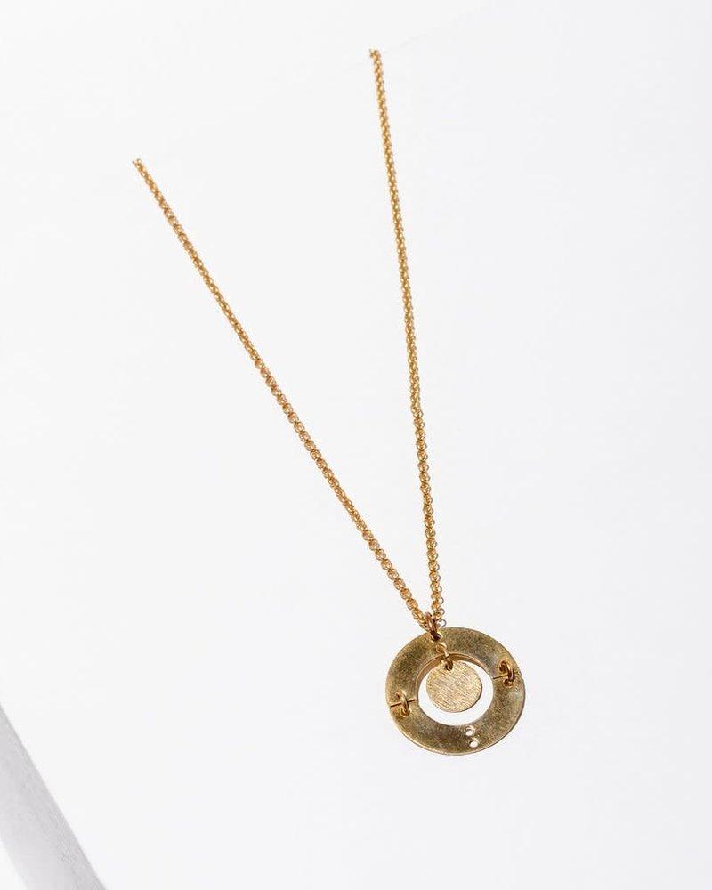 Larissa Loden Larissa Loden Brass 'Puer' Necklace