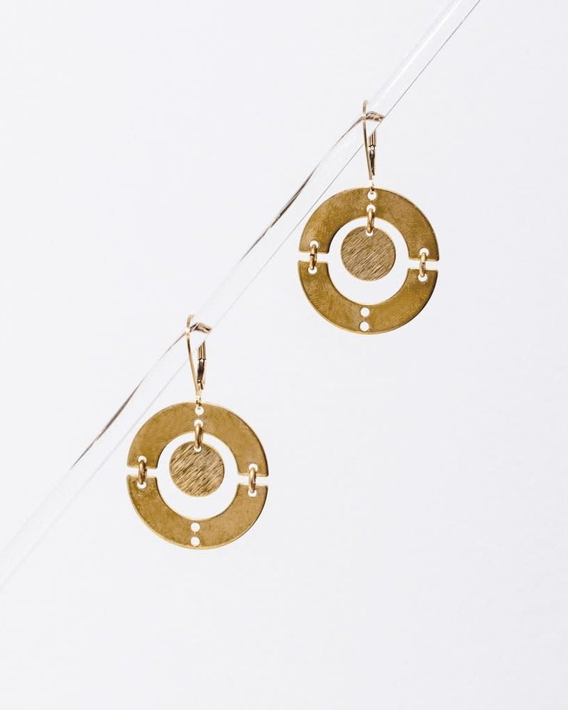Larissa Loden Larissa Loden Brass 'Puer' Earrings