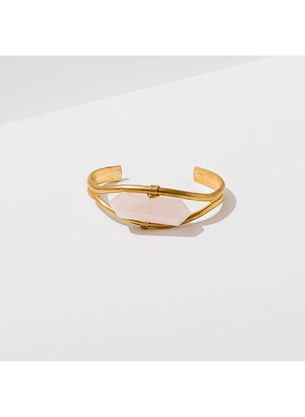 Larissa Loden Rose Quartz 'Crystal Cuff' Bracelet