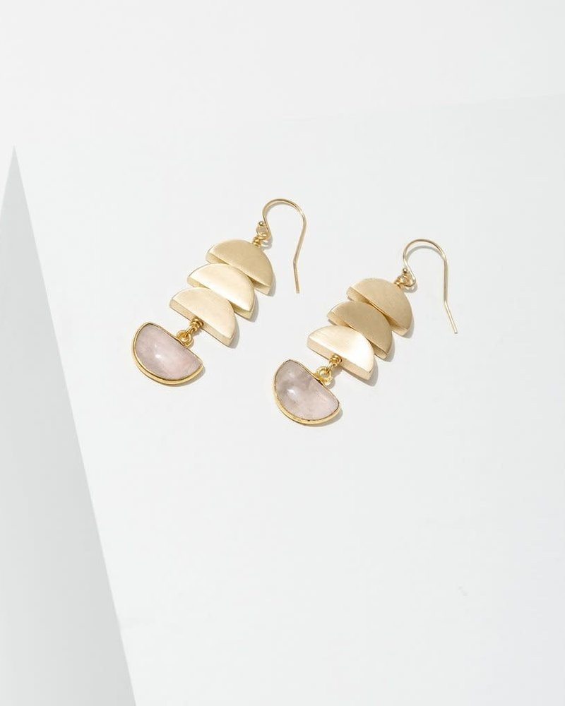 Larissa Loden Larissa Loden Rose Quartz 'Vera' Earrings