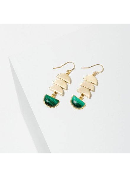 Larissa Loden Malachite 'Vera' Earrings