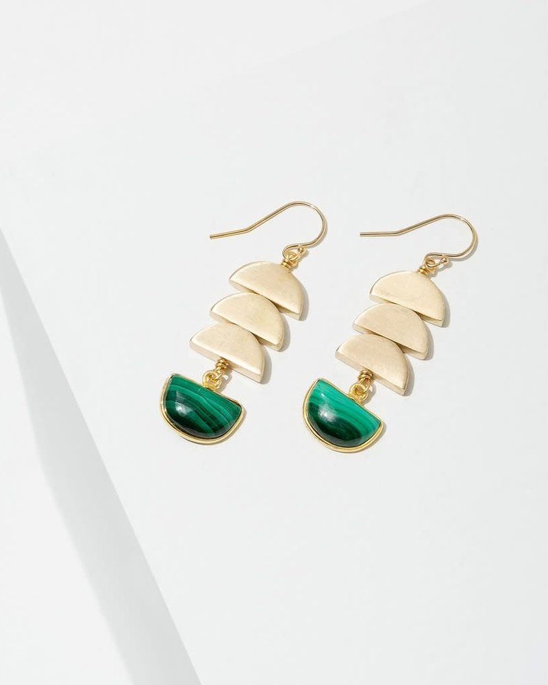 Larissa Loden Larissa Loden Malachite 'Vera' Earrings