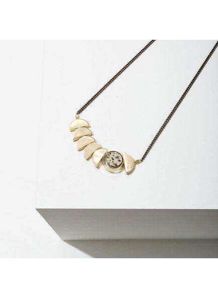 Larissa Loden Dalmatian Jasper 'Zephyr' Necklace