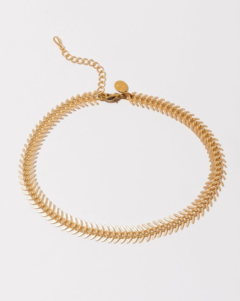 Larissa Loden Larissa Loden Matte Gold 'Nawa' Choker Necklace