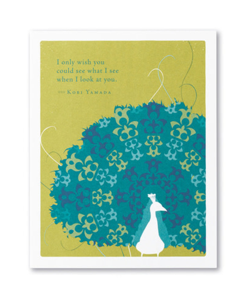 Compendium Compendium Encouragement Card | 'I only wish you could'