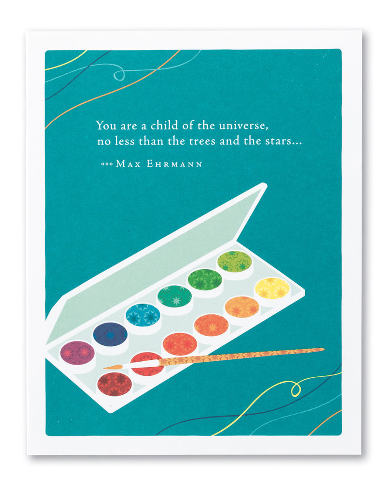 Compendium Compendium Birthday Card | 'You Are A Child Of The Universe'