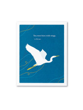Compendium Encouragement Card | 'You were born with wings'