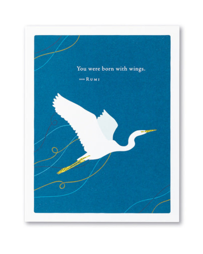Compendium Compendium Encouragement Card | 'You were born with wings'