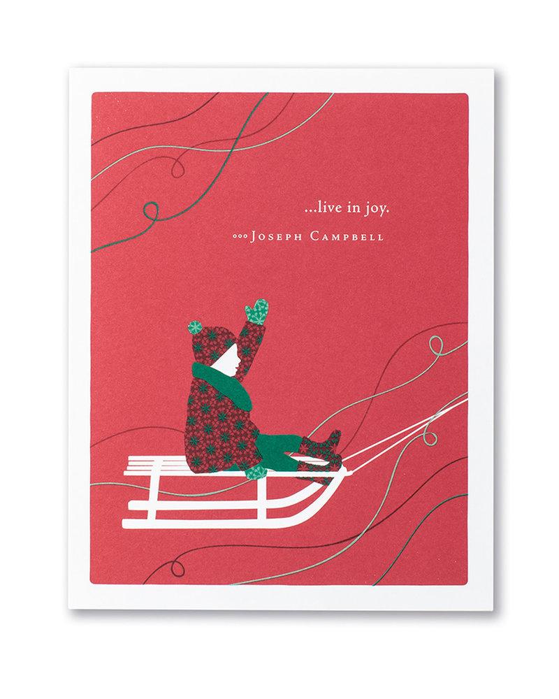 Compendium Compendium Card Holiday '... live in joy'