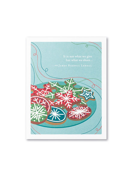 Compendium Card Holiday 'It's not what we give'