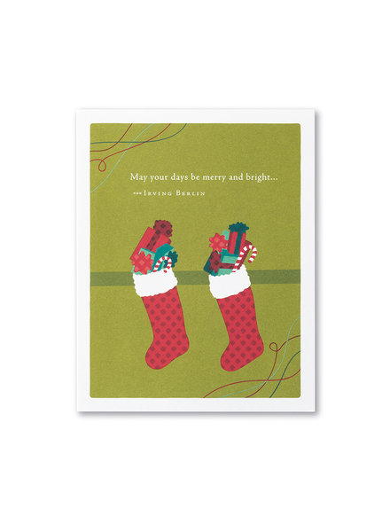 Compendium Card Holiday 'May your days be merry and bright'