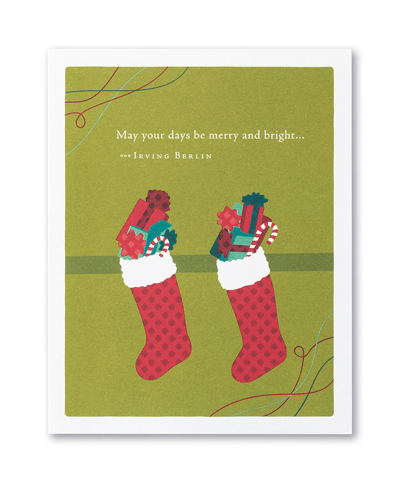 Compendium Compendium Card Holiday 'May your days be merry and bright'