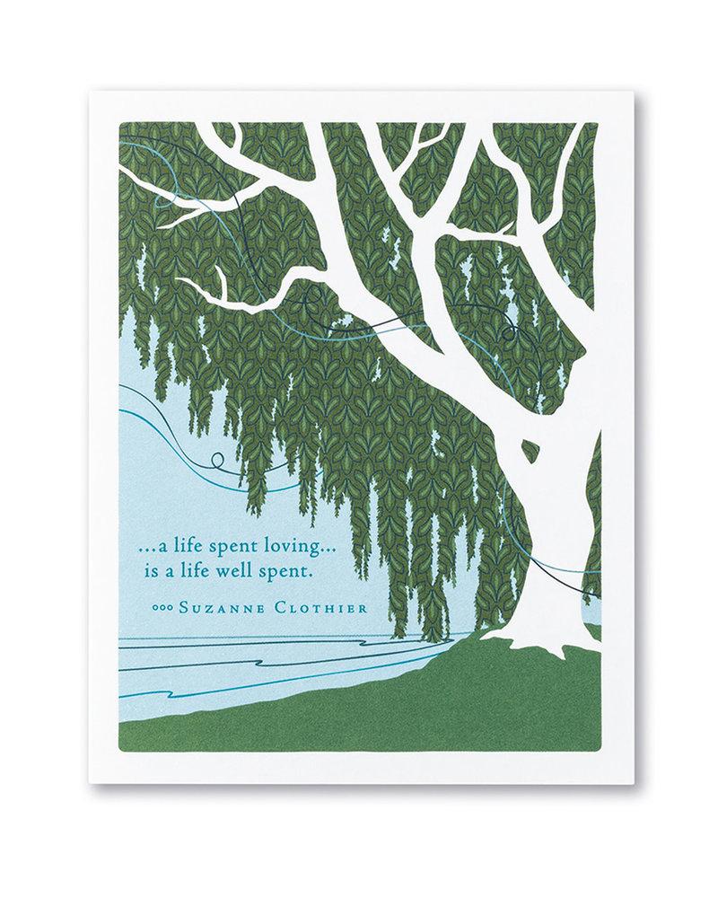 Compendium Compendium Sympathy Card | 'A Life Spent Loving'