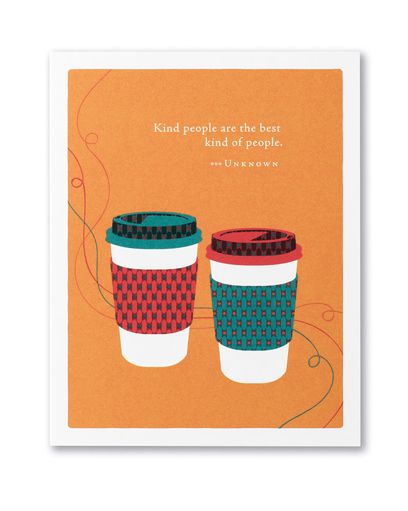 Compendium Compendium Thank You Card   'Kind People Are The Best People'