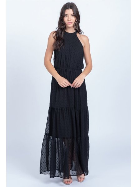 Everly 'All Gowned Up' Halter Maxi Dress