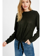 Wishlist 'Give Me A Tie' Top in Black