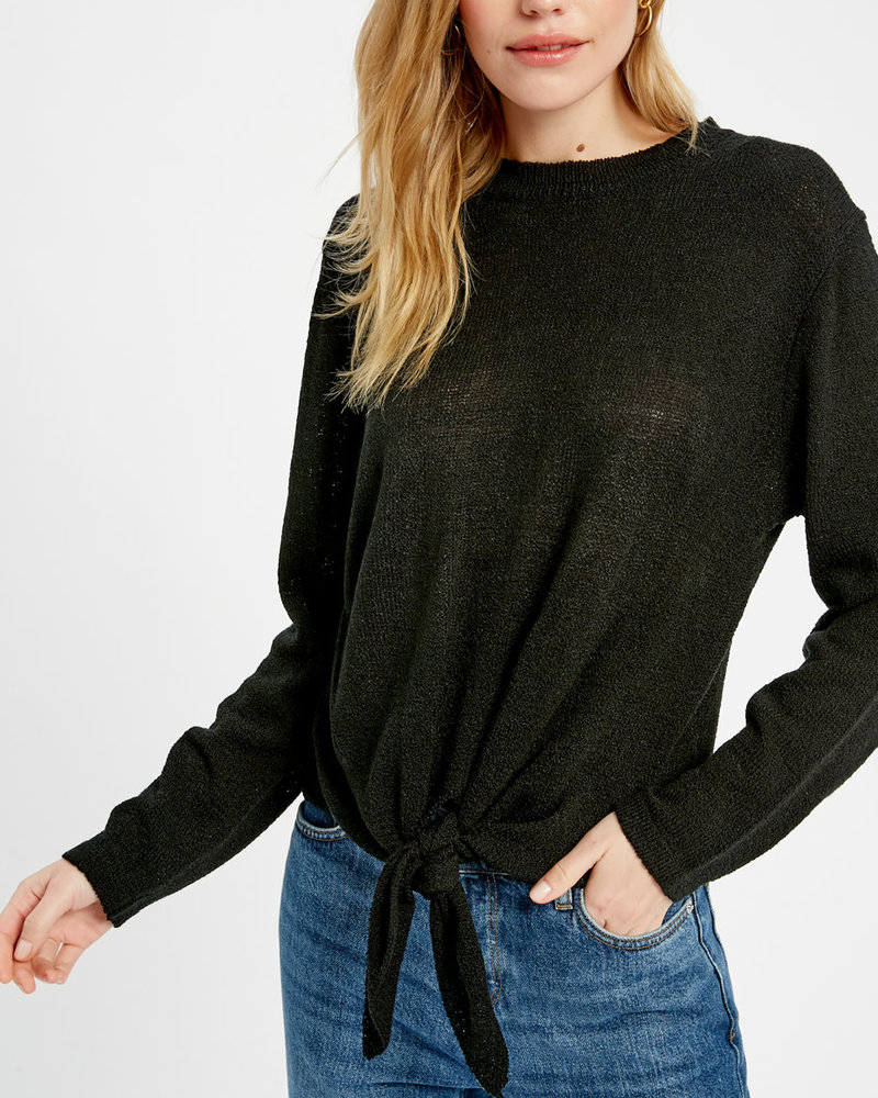 Wishlist Wishlist Black 'Give Me A Tie' Top