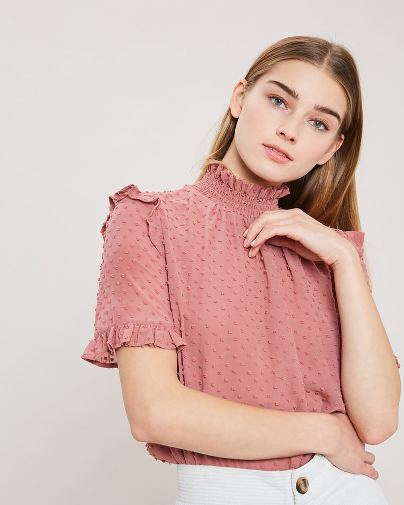 Wishlist Wishlist 'Smocked the Dot' Top