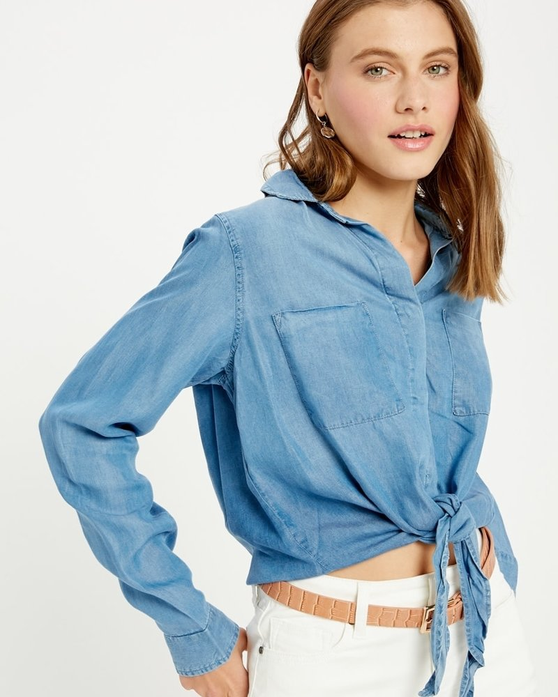 Wishlist Wishlist 'Tie It to the Front' Button Up Top