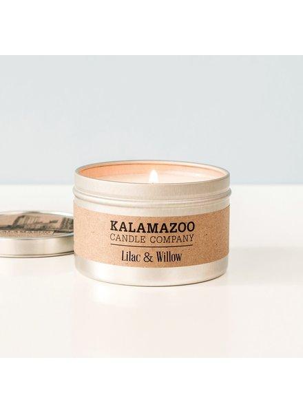 Kalamazoo Candle Co. Tin Candle in Lilac & Willow
