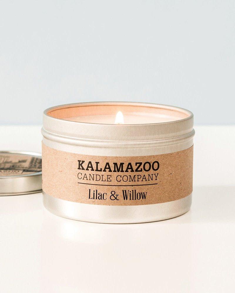 Kalamazoo Candle Co. Kalamazoo Tin Candle in Lilac & Willow