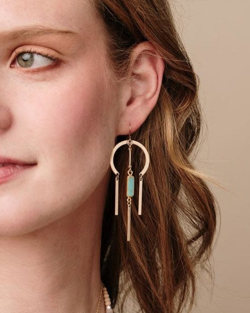 Scout Curated Wears Scout Rose Quartz & Silver Dream Catcher Stone Earrings