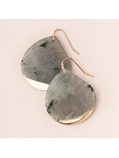 Scout Curated Wears Labradorite Stone Dipped Teardrop Earrings