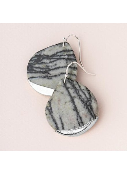 Scout Curated Wears Picasso Jasper Stone Dipped Teardrop Earrings