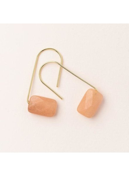 Scout Curated Wears Sunstone Floating Stone Earrings