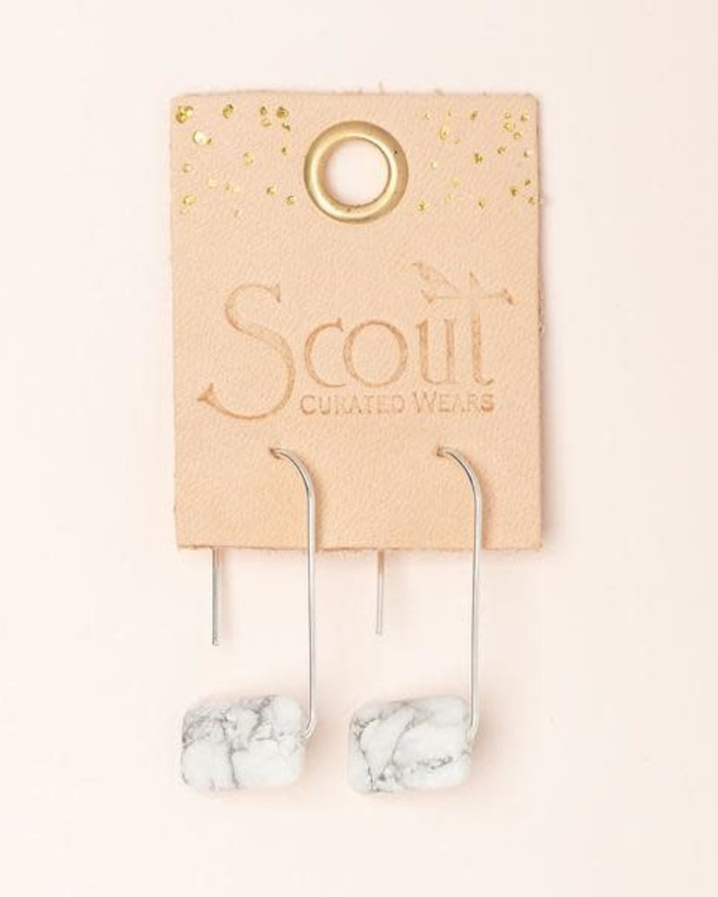 Scout Curated Wears Scout Howlite Floating Stone Earrings