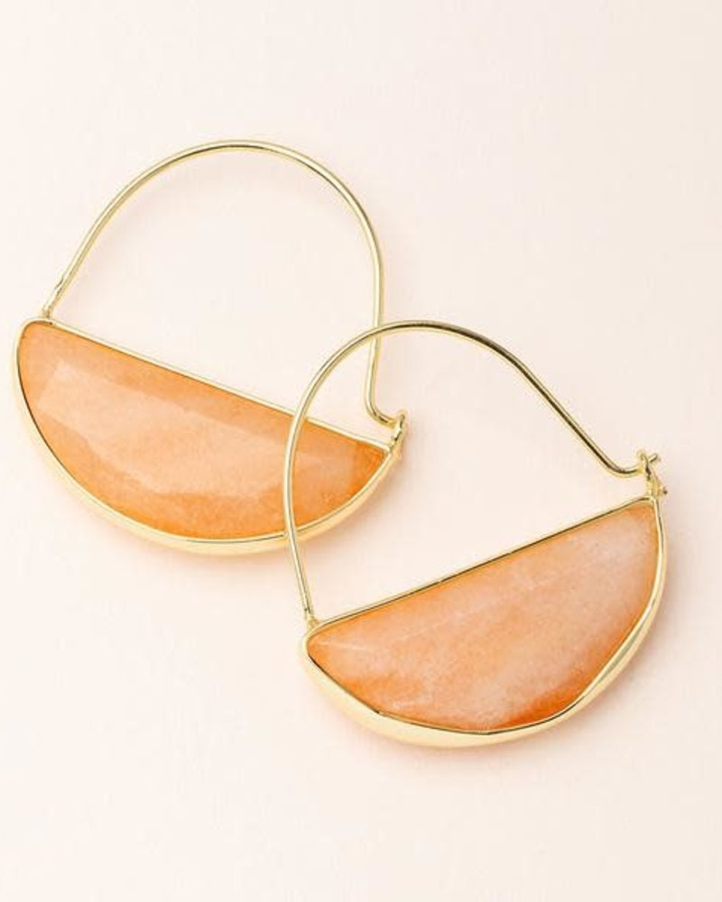 Scout Curated Wears Scout Sunstone & Gold Stone Prism Hoop Earrings
