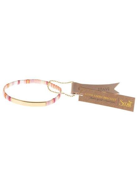 Scout Curated Wears Good Karma Miyuki Bracelet - Brave in Pink Multi/ Gold
