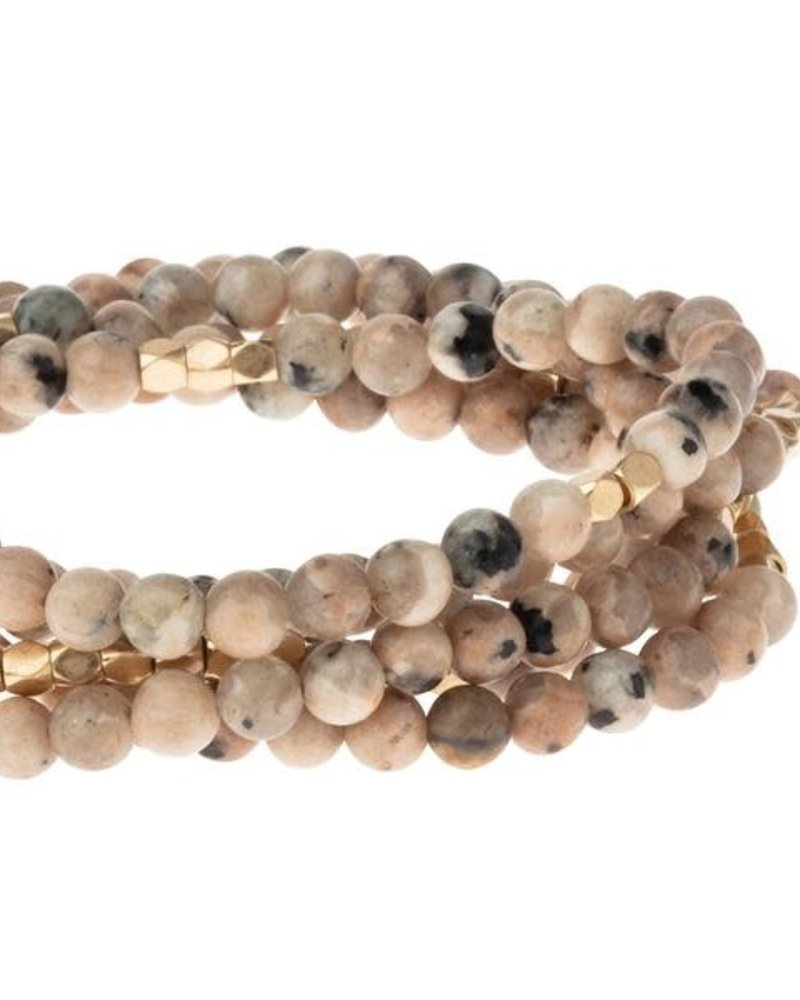 Scout Curated Wears Scout Rhodonite & Gold Stone Wrap Bracelet/Necklace
