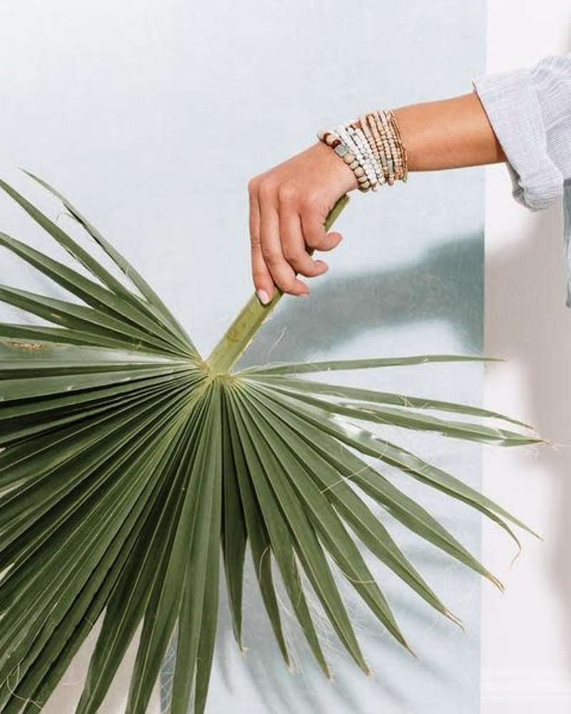 Scout Curated Wears Scout Wood Stone & Metal Wrap Bracelet/Necklace in Labradorite