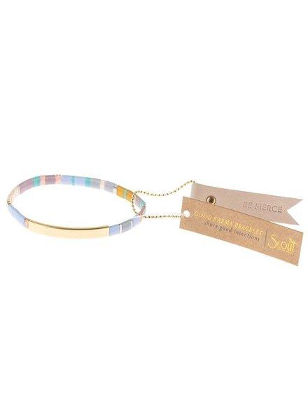 Scout Curated Wears Good Karma Miyuki Bracelet - Be Fierce in Lavender/Gold