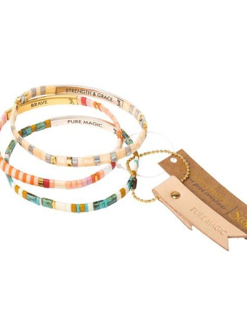 Scout Curated Wears Scout Good Karma Miyuki Bracelet - Be Fierce in Lavender/Gold