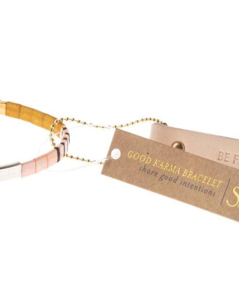 Scout Curated Wears Scout Good Karma Miyuki Bracelet - Be Fierce in Pink/Silver