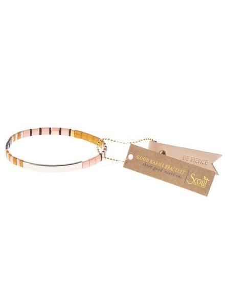 Scout Curated Wears Good Karma Miyuki Bracelet - Be Fierce in Pink/Silver