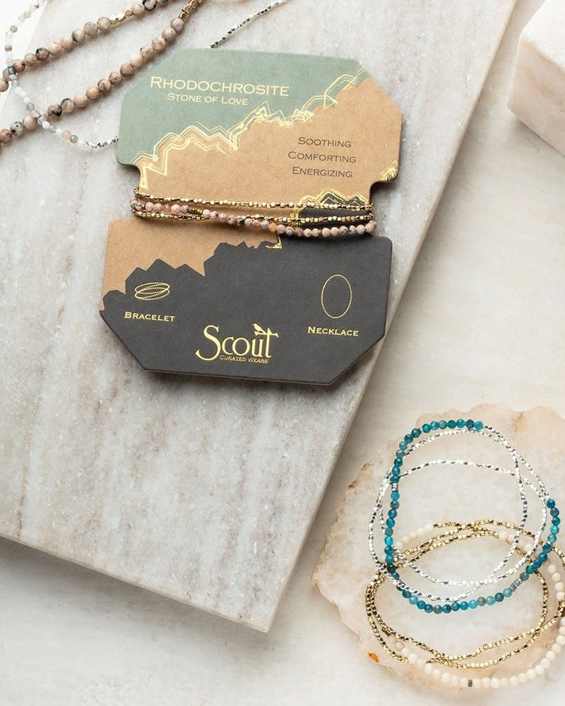 Scout Curated Wears Scout African Turquoise & Gold Delicate Stone Wrap Bracelet/Necklace