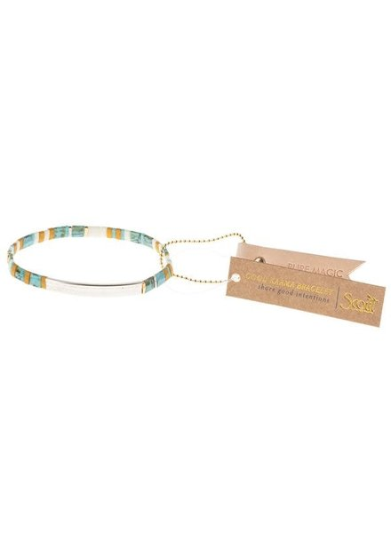 Scout Curated Wears Good Karma Miyuki Bracelet - Pure Magic in Turquoise/Silver