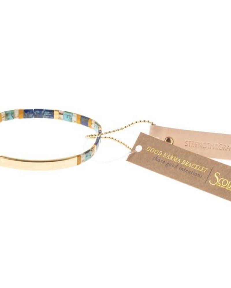 Scout Curated Wears Scout Good Karma Miyuki Bracelet - Strength & Grace in Indigo/Gold