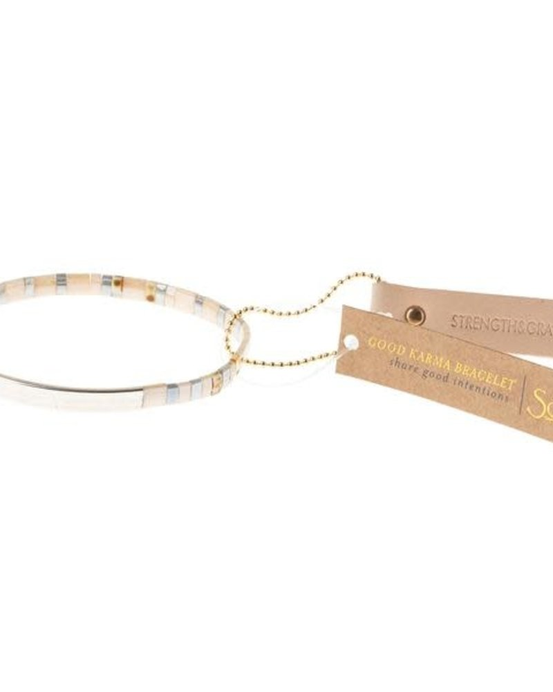 Scout Curated Wears Scout Good Karma Miyuki Bracelet - Strength & Grace in Ivory/Silver