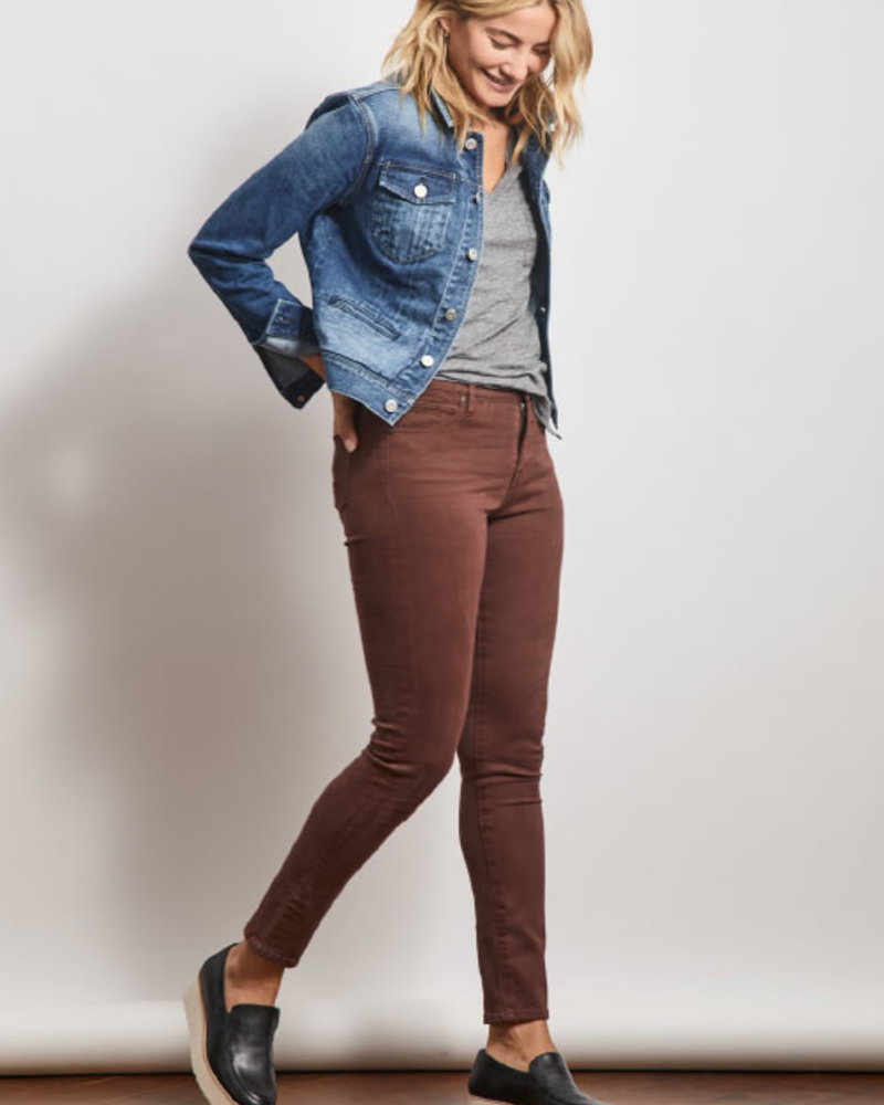 Stonefield Stonefield 'Conrad' High Rise Ankle Skinny Jean in Vintage Plum