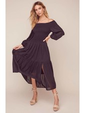 ASTR 'Utopia' Off Shoulder Midi Dress